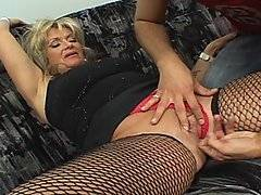 Milfs are always great to fuck, and when you have one as kinky as Sophie you know this is going to be a milf porno to watch out for. Bruno Perez is a lucky guy to get a shot at this fishnet framed milf pussy, and I have to count myself lucky that she wants to hang out on the porn scene. Her meatflaps are ready for a nice stiff dicking, and once she starts taking that cock she transforms into a sexual demon, demanding to get fucked harder and harder until she ends up having a wild orgasm all over the place.