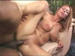 Sluty milf likes to get her eager pussy pocked with thick black dick.