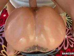 Sexy and alluring bitch is having deep gang bang
