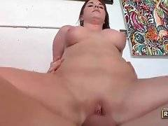 Naughty mature chick is fond of sucking and fucking.