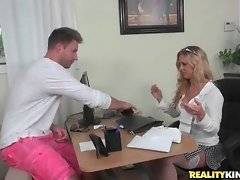 Hungry Levi Cash is surely going to seduce pretty milf Cherie Deville.