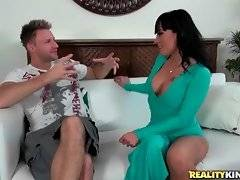 Busty milf wants Levi to help her please her husband with hot photos.