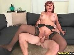 Horny Levi Cash skillfully works his cock driving Vanessa Bella crazy.