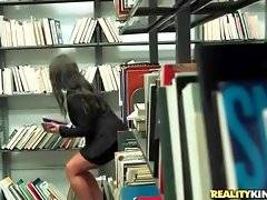 Levi Cash is spying after attractive milf in book store.