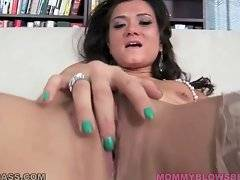 Pretty brunette milf Cece Stone plays with her eager cunt.